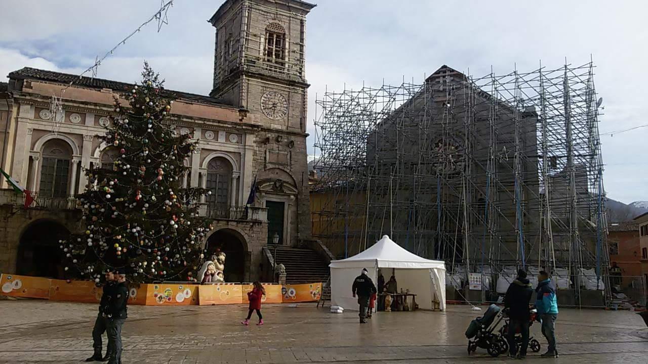 La cattedrale di San Benedetto a Norcia in un Natale dopo il sisma- foto di Rodolfo di Biagio.