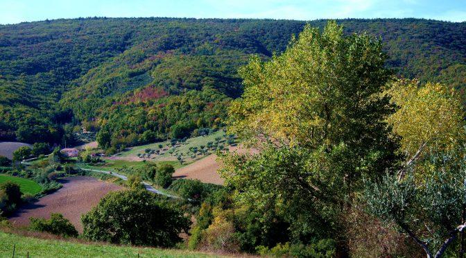 Il panorama verso la zona di Colleluce.